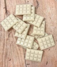 mini white chocolate bars