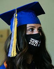 Photo: CMC graduate with mask