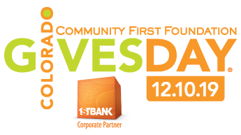 Logo: Community First Foundation: Colorado Gives Day 12.10.19