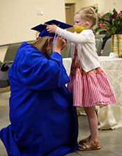 CMC Nursing pinning ceremony: daughter honors mother