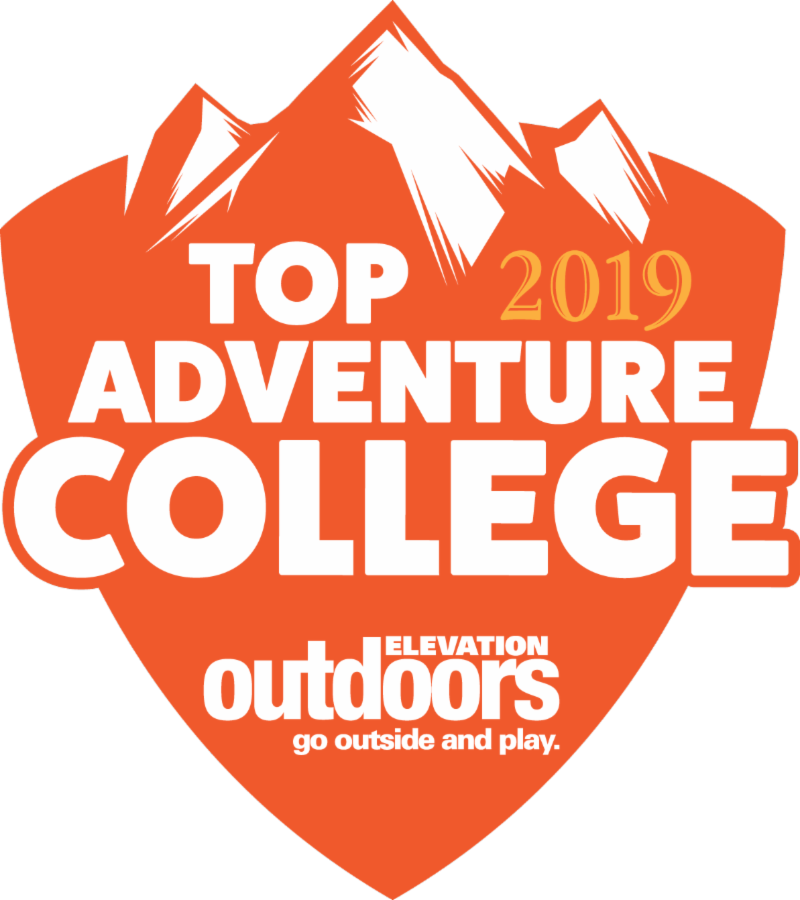 Logo: Top Adventure College 2019: Elevation Outdoors. Go outside and play!