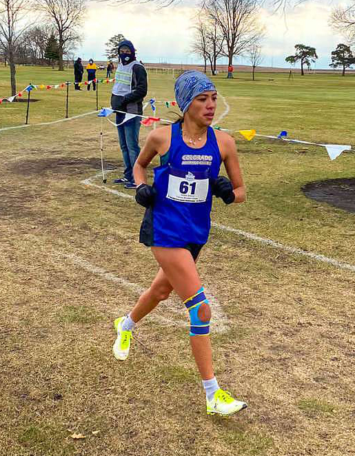 Photo: CMC x-country runner at nationals.