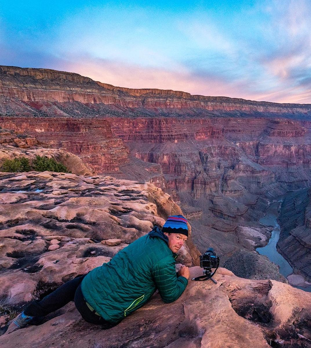 """Colorado photographer, filmmaker and writer Pete McBride, here on assignment at the Grand Canyon, will give the keynote address at CMC's online """"Envision Sustainability 2021"""" conference on April 23. The event is free and open to the public."""