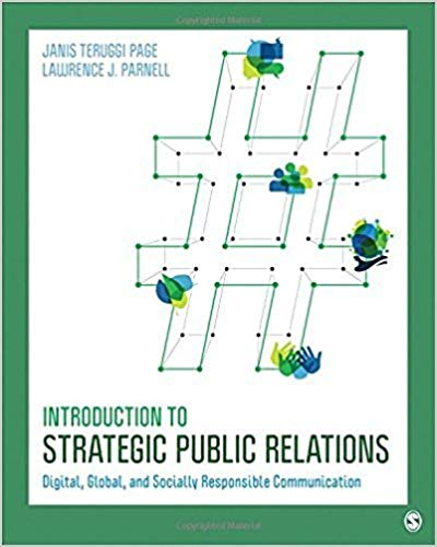 Green and white book cover -Introduction to Strategic Public Relations-Digital, Global and Socially Responsible Communication