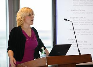 Connie Uthoff speaking at May 3 event