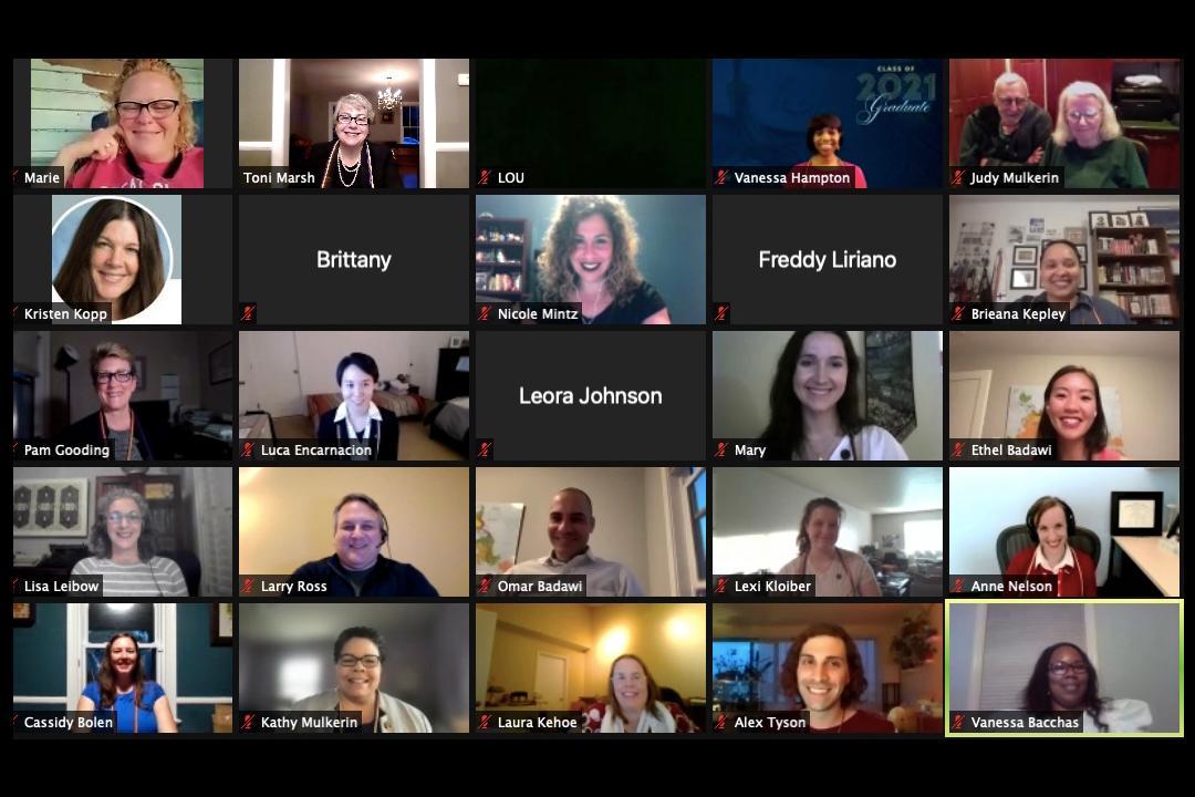 Participating faces on virtual LEX event