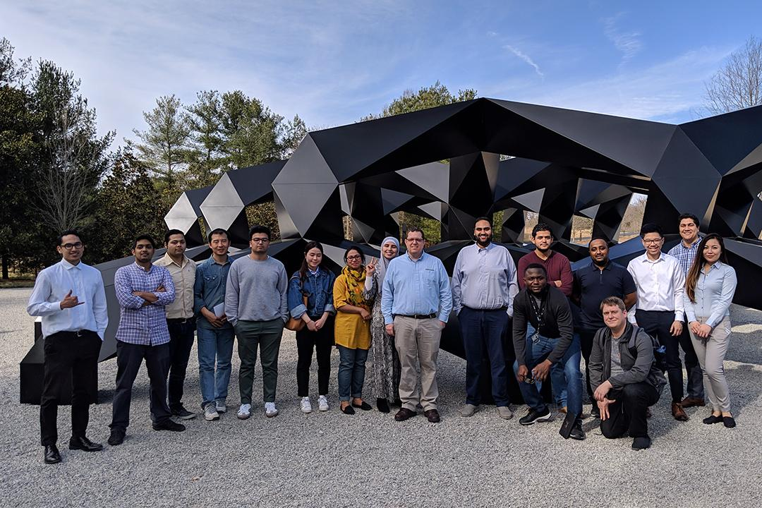 IIST students during career services fieldtrip to Glenstone