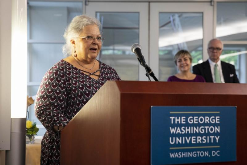 Susan Bro, mother of GW slain paralegal student, spoke at Paralegal commencement
