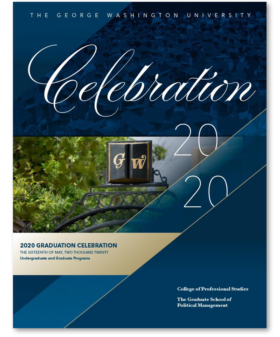 Celebration 2020 GW Commencement program