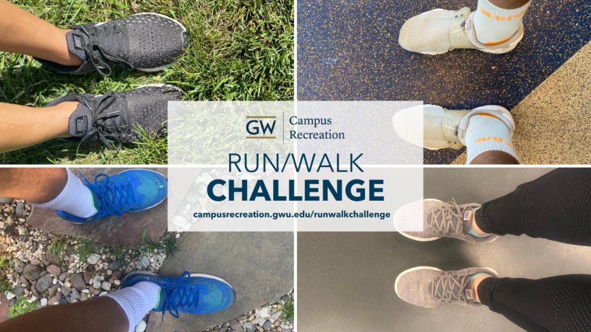 GW Campus Recreation, Run/Walk Challenge, legs with sneakers