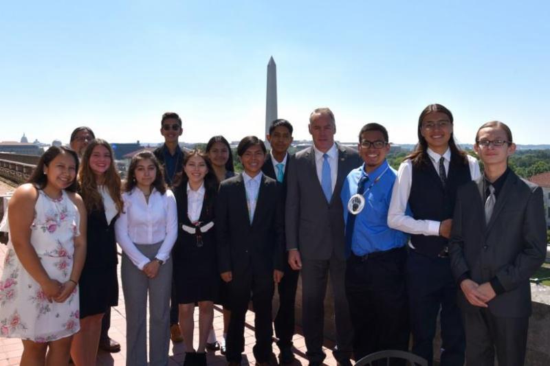 Secretary Zinke with NAPLP students
