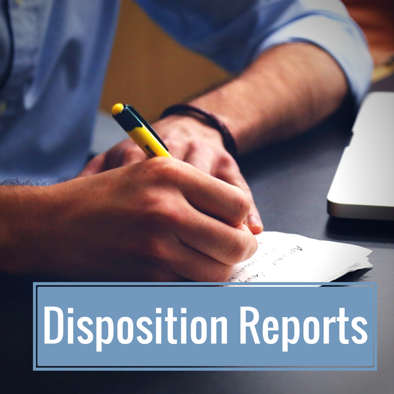 Disposition Reports