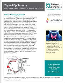 Infosheet about Thyroid Eye Disease