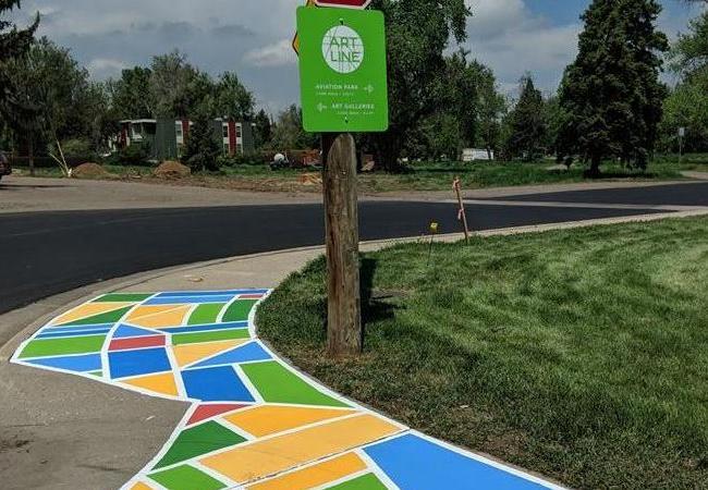ArtLine ground mural crossing mural