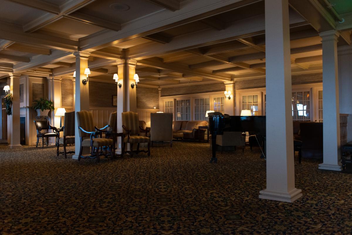 Lighting upgrades throughout the Mountain View Grand Resort and Spa maintain its historic look and feel