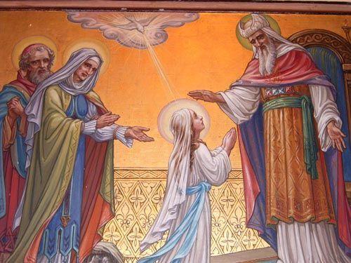 21/11 – Thứ ba. Đức Mẹ dâng mình trong đền thờ.