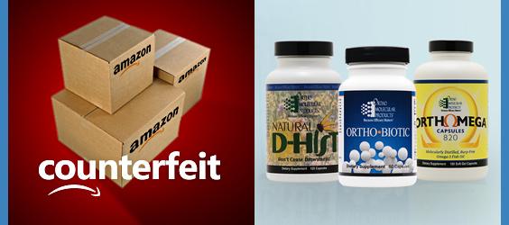 counterfeit supplements on Amazon