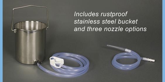 stainless steel enema bucket kits
