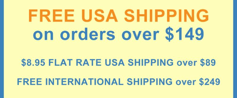 FREE USA SHIPPING ON ORDERS OVER $149