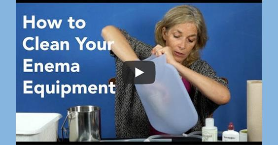 how to clean your enema equipment