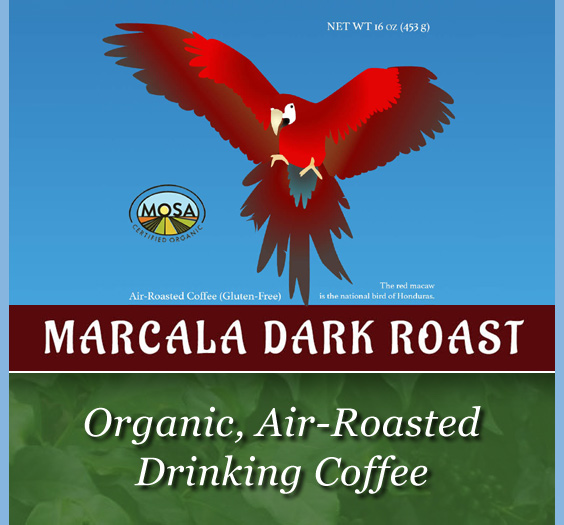 organic_ air-roasted drinking coffee