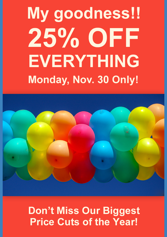 25_ OFF EVERYTHING