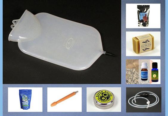 coffee enema kit with silicone bag