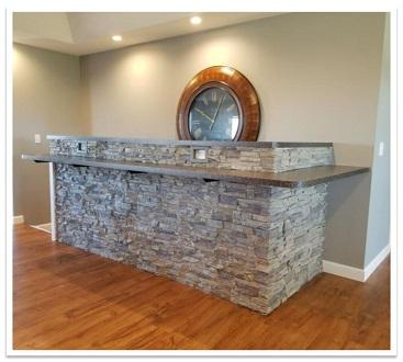 Breakfast bar with Regency Stacked Stone