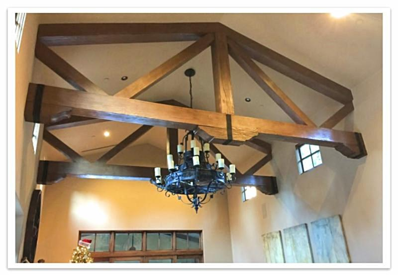 Decorative trusses with Custom Timber beams
