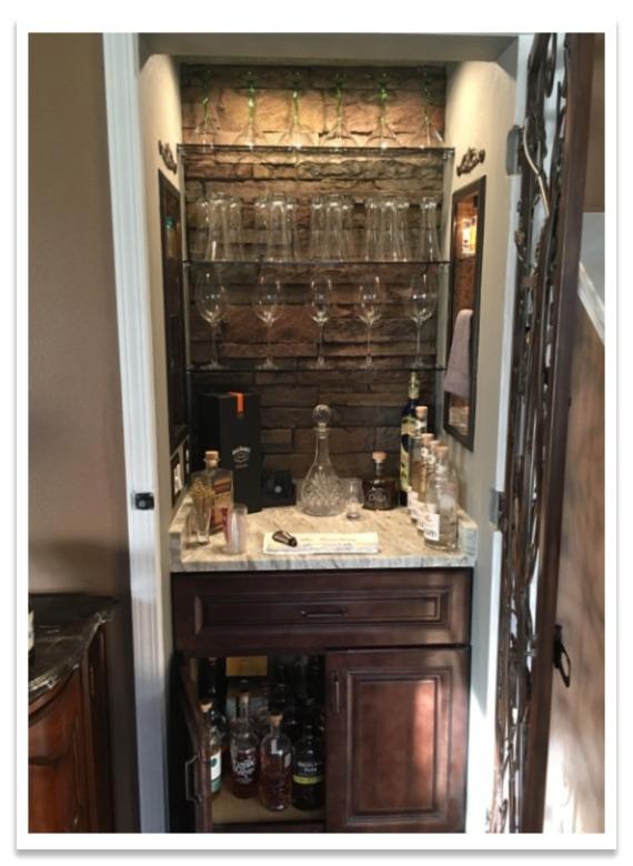 Cocktail closet after