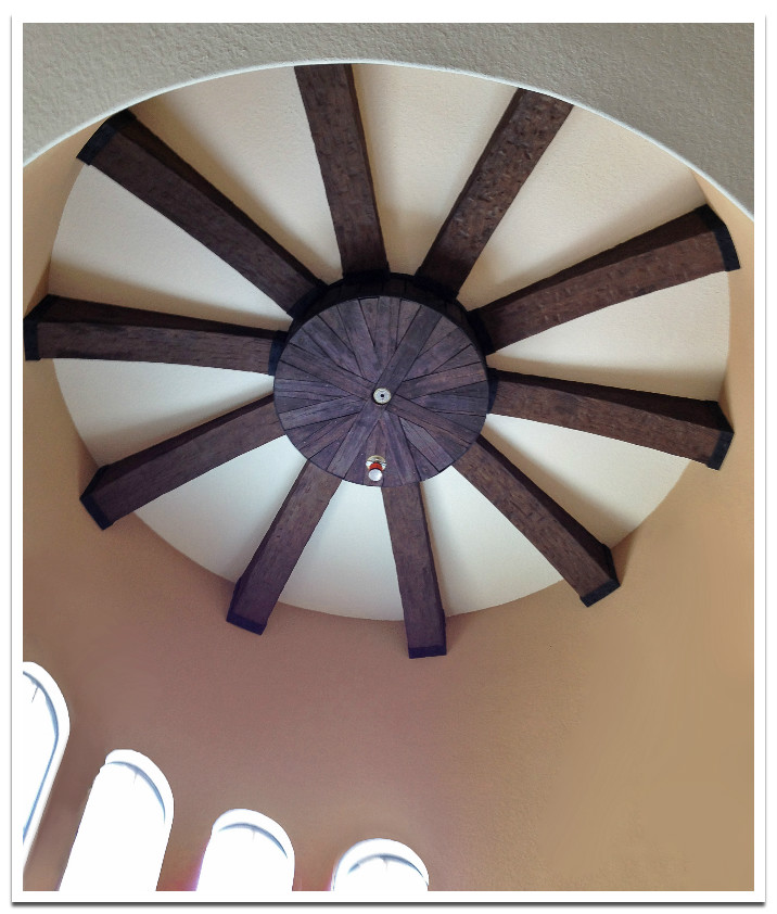 Tuscany beams  on a turret ceiling