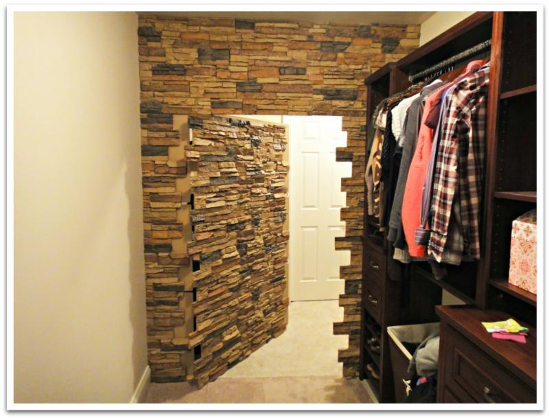 Closet with hidden door