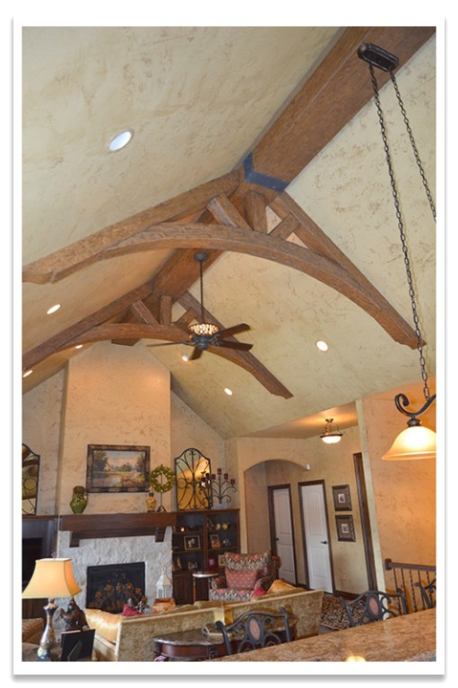 Decorative trusses with Tuscany beams