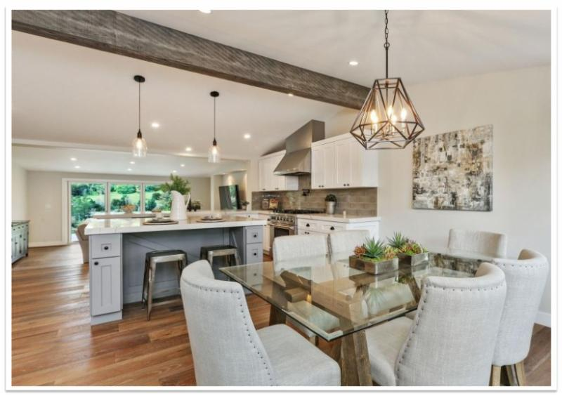 Kitchen with Faux Reclaimed Beam