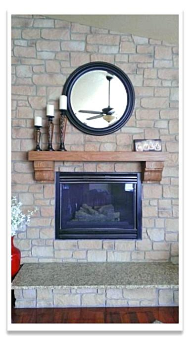 Fireplace with Carlton Cobblestone