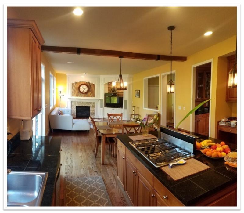 Kitchen with Beachwood beam