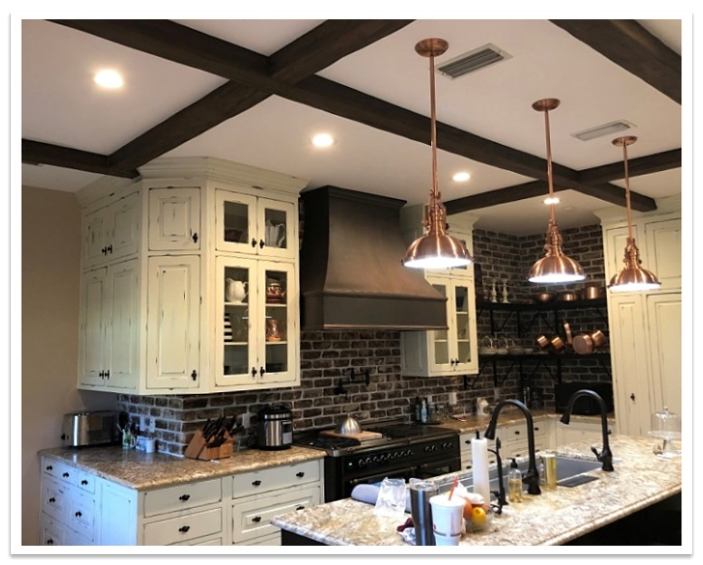 Kitchen ceiling beams