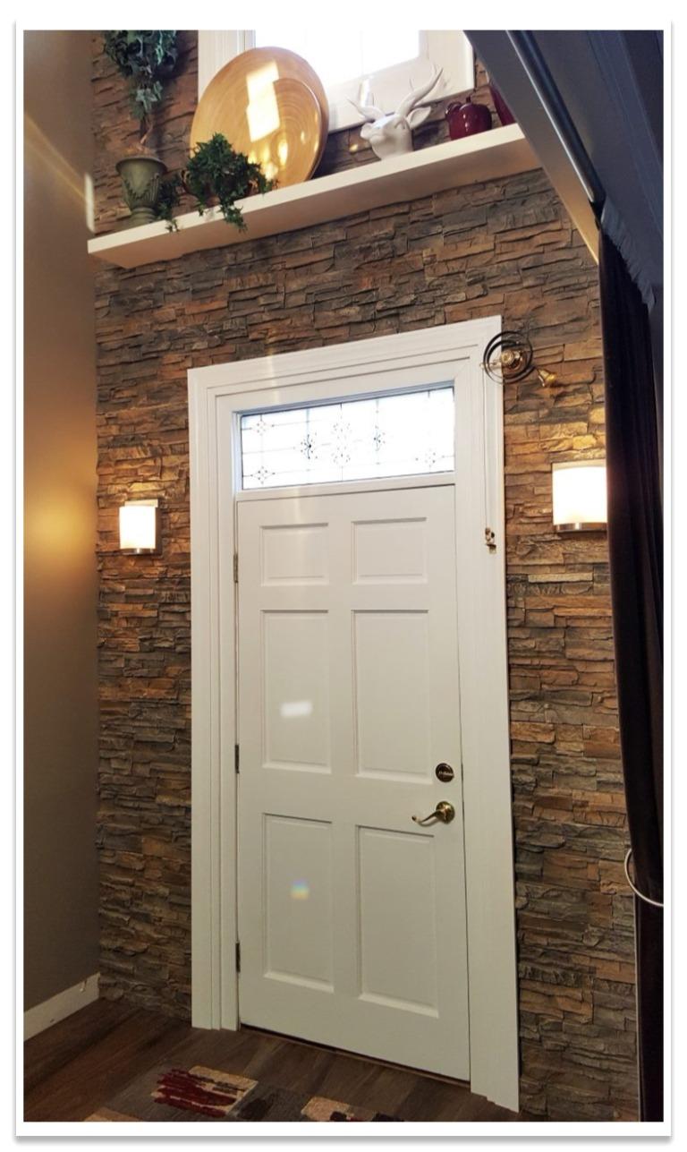 Front door with Regency Stacked Stone Potomac