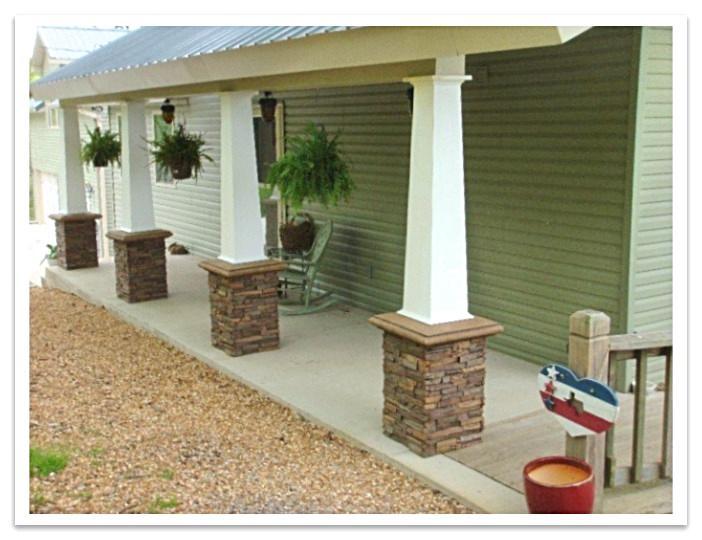 Porch with Wellington Drystack column wraps