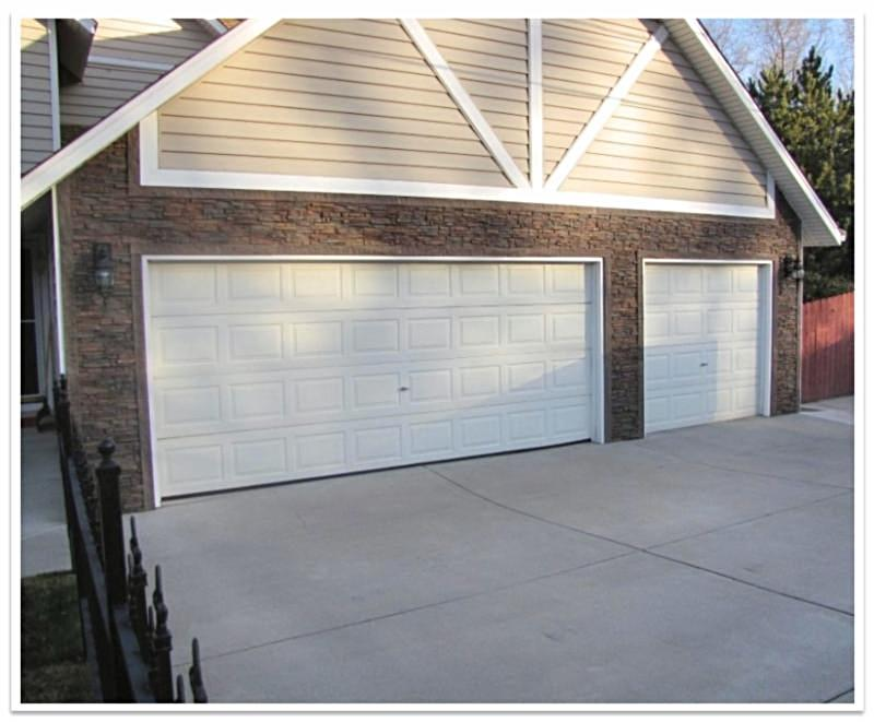 Garage with Regency Stacked Stone siding