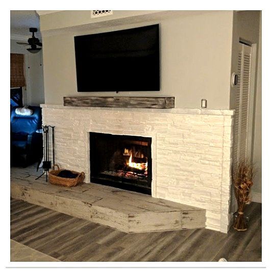 Fireplace with Norwich Dry Stack in White
