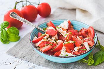 Caprese Salad with Fresh Tomatoes