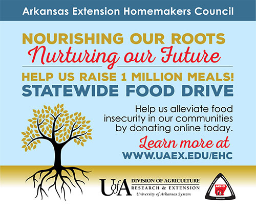 AR Extension Homemakers Graphic for Statewide Food Drive