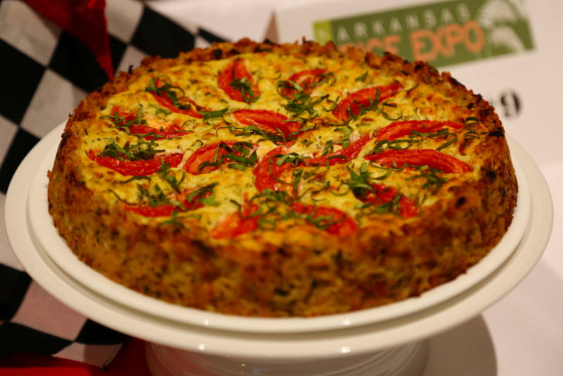 close up of frittata on a plate