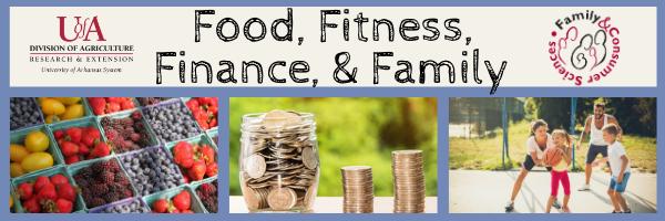 Food, Fitness, Finance, & Family logo
