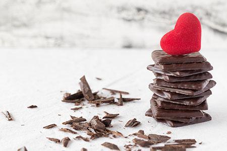 Dark Chocolate and Heart