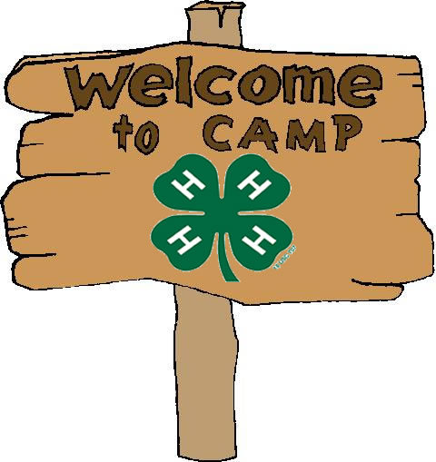 wood sign illustration with welcome to camp