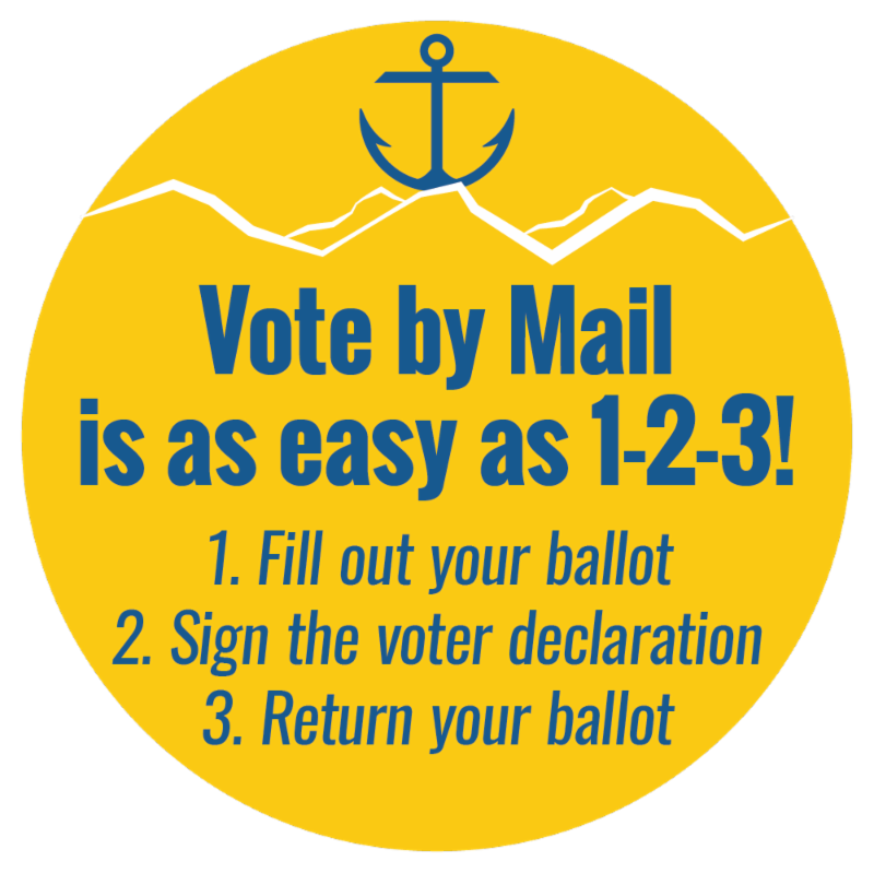 Vote by mail is as easy as 1 2 3