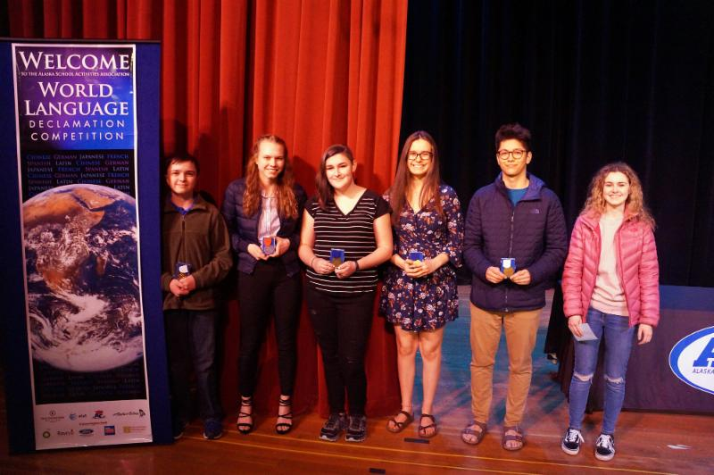 Wold Language Declamation Competition photo of student finalists