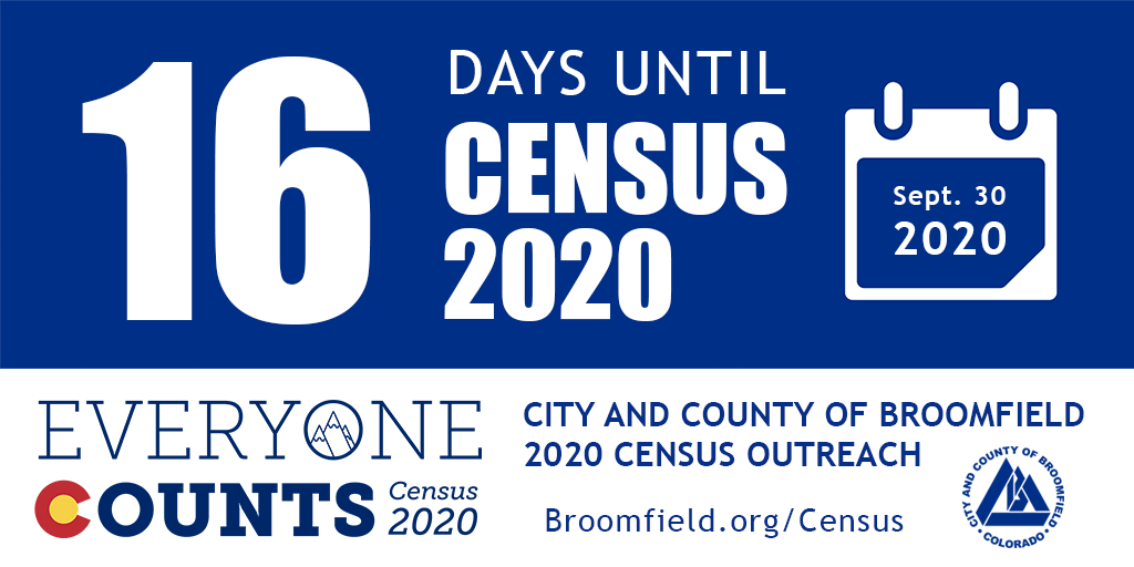 16 Days left in the Census data collection period